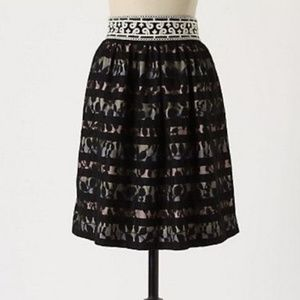 Anthropologie Floreat Charente Lace Skirt